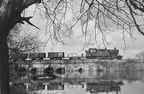 42xx passing the flood meadows at Over Junction in 1962. Photo by B. Ashworth