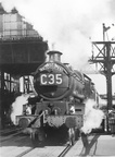 5031 Totnes Castle leaving Gloucester Eastgate on the southbound Cornishman in 1961