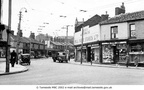 HYDE - Market Street looking up towards the market from the corner by Newton Street - circa.1945