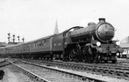 B1 61160 leaving Guide Bridge on the 09-55 Manchester London Rd.-Cleethorpes service on 4.7.1949. Ronnie Gee