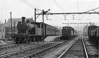 C13 67421 (left) and C13 67425 on the 12.40 Manchester London Rd.-Hadfield. 1954