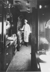 GCR KITCHEN CARRIAGE INTERIOR & CHEF 8x6 LNER OFFICIAL PHOTO