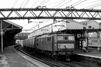 Class 76 E26056 Triton at Guide Bridge with a steam heated passenger working on 29th December 1969.