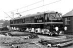 British Railways 25kv A.C. No.E1000 ( later renumbered to E2001 ) at Crewe ) not long after conversion from Western Region Gas Turbine No.18100.