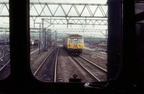 Guide Bridge. Class 303`s Glasgow Blue Trains transferred to Greater Manchester in the 1980`s. - Copy