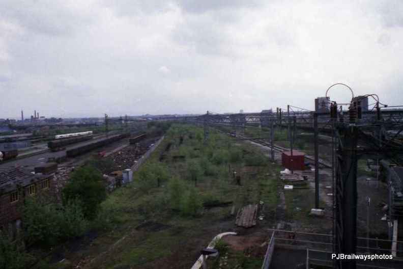 Site of the now 185 depot Ardwick Manchester 01-05-1988