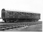 CARRIAGE ORIGINAL No 63891 1946 No 88148 Diagram 215 1st / 2nd CLASS COMPOSITE BUILT AT DUKINFIELD WORKS 1936