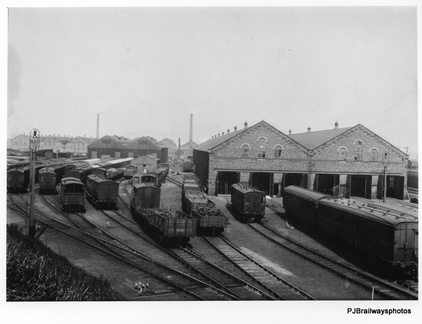 Dukinfield Works after construction about 1914 showing the East yard