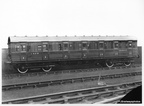 CARRIAGE BUILT AT DUKINFIELD WORKS IN 1937  Diagram 51 FIRST / THIRD CLASS COMPOSITE  ORIGINAL No 63947  1946 No 88131 AT DUKINFIELD WORKS