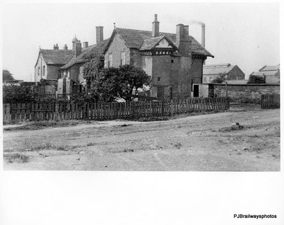 Dukinfield Old Hall with the works in the background