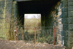Former rail entrance into the works from Dewsnap bridge