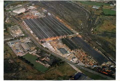 The works from the air in the 1970s at this time the sidings had shut down