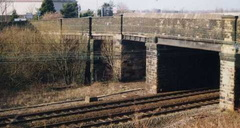 The old entrance into the works with the main line