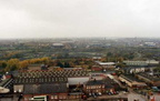 View from the top of the Smithy Chimney before demolition