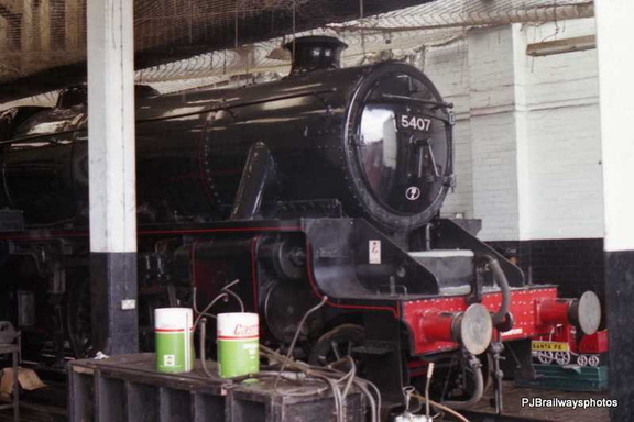 5407 inside Carnforth Shed