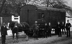 1900 Midland Railway horsebox beside the cattle pens