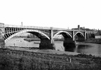1-Second bridge in 1866. The first bridge was constructed in laminated timber. This was replaced in 1866 with wrought Iron as illustrated then rebuilt in 1962-3 as we know it today