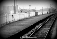 Station Dukinfield Central 1964 GCR Closed 1959