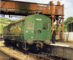 1-One of the 506 EMU's in original green livery is seen here at Dinting in August 1954