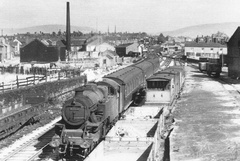 1955 Mossley to Victoria at Ashton Moss