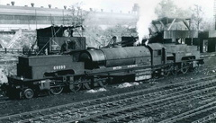 Ex-LNER Garratt 69999 taking on coal at Bromsgrove shed in 1949