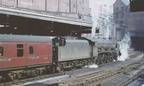 112-Royal Scot class No.46149 The Middlesex Regiment is seen here just after arrival at Birmingham New Street ,with an express in March 1962