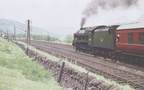 213-With the help of an unseen banker, Royal Scot Class No. 46102 Black Watch is seen here on Beattock Bank in June 1960
