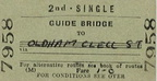 245-Railway Ticket Guide Bridge to Oldham Clegg St