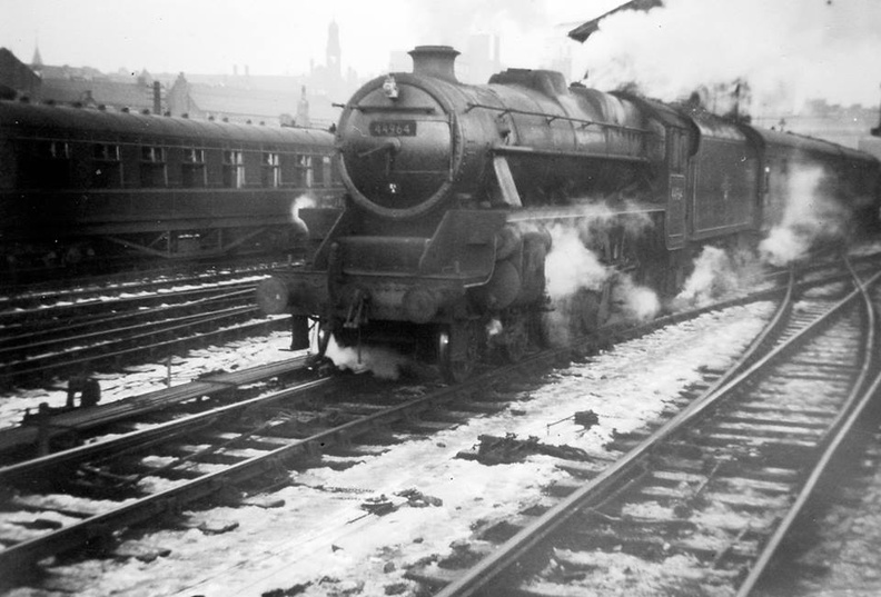 Train at Leeds for Derby, 1959