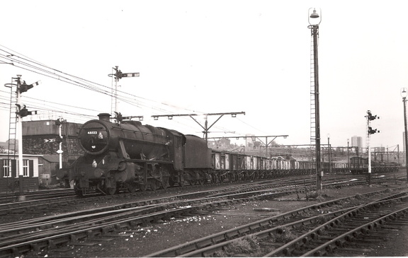 30.03.68 Godley Junction 30.03.68 48322 on Wath -Garston coal train