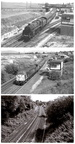 Droylsden Station Junction throughout the years. 1957, 1979, 2015