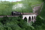 3F 0-6-0 going across the Monsal Dale viaduct