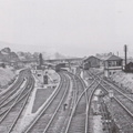 A general view of Chinley station as seen in September 1950