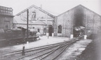 An early 1950's view of the 1875 built Hasland sheds, looking north.