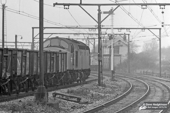 Two Class 40s go about their business on the Woodley Stockport line at Godley Junction