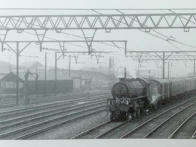 Seen from Sheffield No. 5 box ,B1 and a bike in the carriage sidings east of Victoria station sometime in the 1960s..jpg
