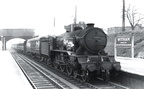 61608 'Gunton' arrives at Witham with a down stock train....April 1958