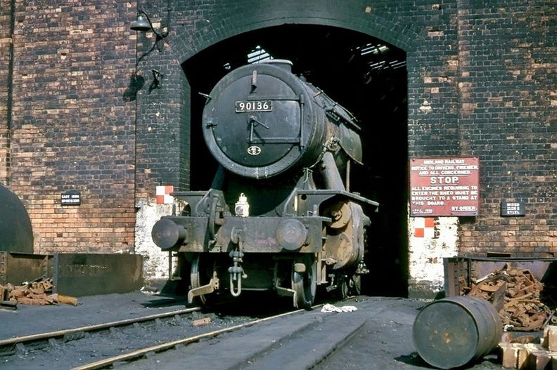Toton Shed WD 2-8-0 no. 90136 - 28th March 1965