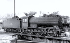 .64761 moves off the turntable at Norwich 32A ... 28th December 1957