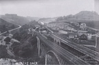Magnificent view of the Midland Railway's Millers Dale station in about 1912