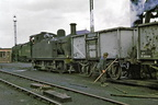 Toton MPD  LMS 3F 0-6-0T 47231 shunting by the coaling tower. June 1964