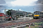 On July 24th 1965 Britannia 70045 is seen at Wolverhampton Low Level after arrival with a down Summer Saturday extra.
