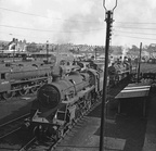 75062 & 75021 at Carnforth Shed, c1967