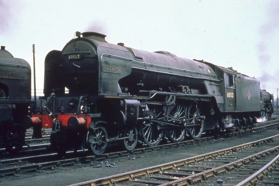 Ex LNER A1 Class No.60132 'Marmion' at Heaton. Date 15-6-1962