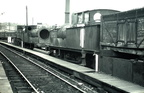 Two old LY Tank engines in Queens Road sidings, Collyhurst, which were used for steam heating ECS 1967