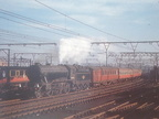 Under the wires, Doncaster based 'K3' 2-6-0 No. 61868 rolls round the curve into Sheffield Victoria with a late afternoon train in October 1958