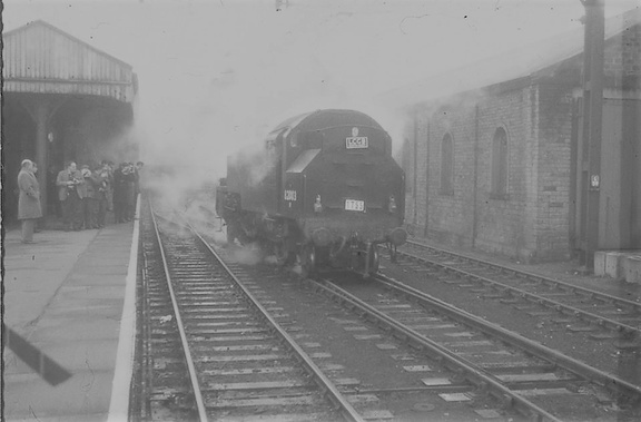82003 on 16-4-1966 at Glossop with a Loco Club of Great Britain special  (2)