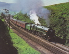 Passing Chinley North is Britannia Class No. 70013 Oliver Cromwell on an enthusiasts special in June 1968