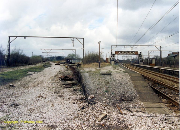 The former Godley Junction station  on March 24th, 1989