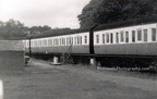 camping coaches at Tenby 1970s not for public just for workers